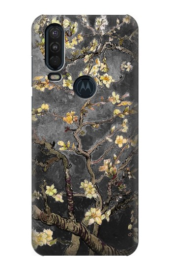 Printed Black Blossoming Almond Tree Van Gogh Motorola One Action (Moto P40 Power) Case