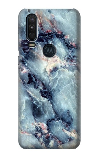 Printed Blue Marble Texture Motorola One Action (Moto P40 Power) Case