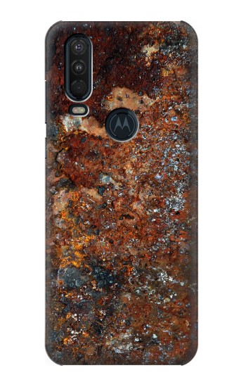 Printed Rust Steel Texture Motorola One Action (Moto P40 Power) Case