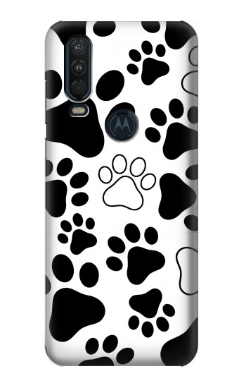 Printed Dog Paw Prints Motorola One Action (Moto P40 Power) Case
