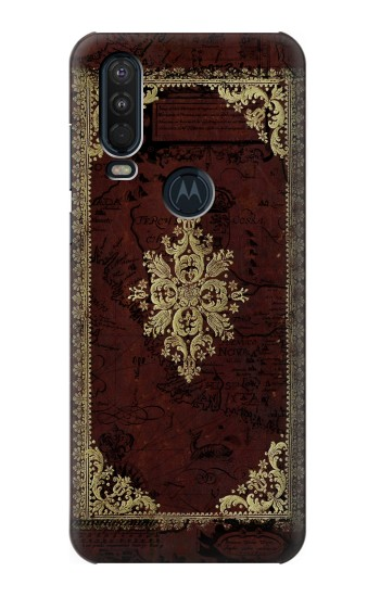 Printed Vintage Map Book Cover Motorola One Action (Moto P40 Power) Case