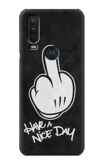 Printed Nice Day Middle Finger Motorola One Action (Moto P40 Power) Case