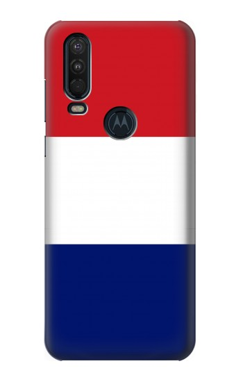 Printed Flag of France and the Netherlands Motorola One Action (Moto P40 Power) Case