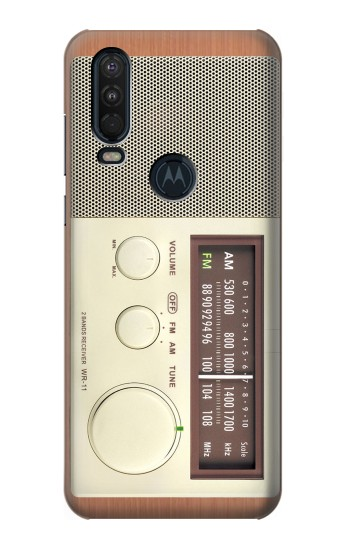 Printed FM AM Wooden Receiver Graphic Motorola One Action (Moto P40 Power) Case