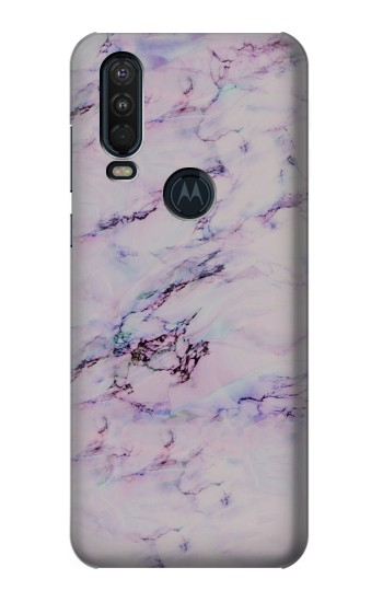 Printed Seamless Pink Marble Motorola One Action (Moto P40 Power) Case