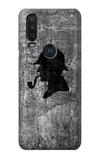 Printed Sherlock Holmes Silhouette Motorola One Action (Moto P40 Power) Case