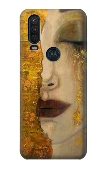 Printed Gustav Klimt Golden Tears Motorola One Action (Moto P40 Power) Case
