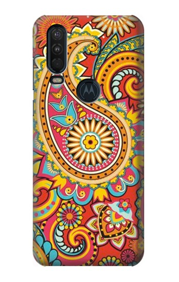 Printed Floral Paisley Pattern Seamless Motorola One Action (Moto P40 Power) Case