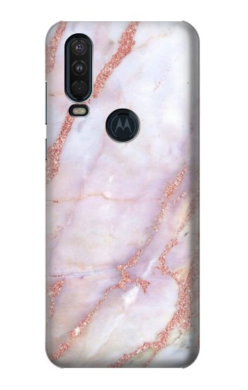 Printed Soft Pink Marble Graphic Print Motorola One Action (Moto P40 Power) Case
