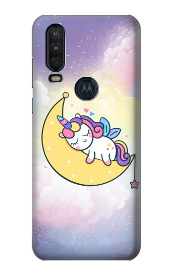 Printed Cute Unicorn Sleep Motorola One Action (Moto P40 Power) Case