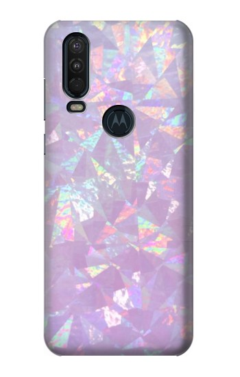 Printed Iridescent Holographic Photo Printed Motorola One Action (Moto P40 Power) Case