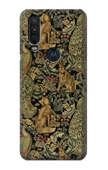 Printed William Morris Forest Velvet Motorola One Action (Moto P40 Power) Case