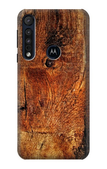 Printed Wood Skin Graphic Motorola One Macro Case