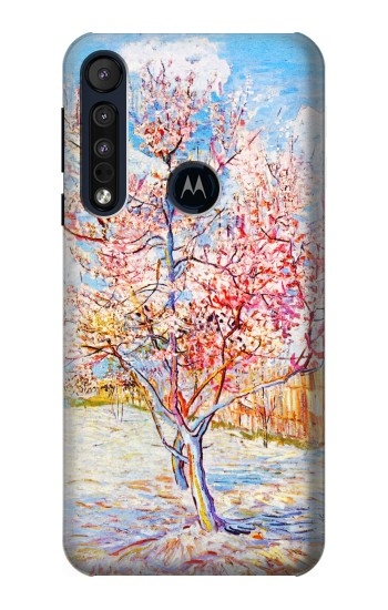 Printed Van Gogh Peach Tree Blossom Motorola One Macro Case