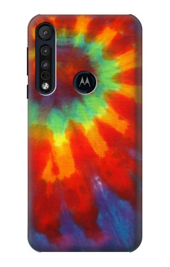 Printed Colorful Tie Dye Fabric Texture Motorola One Macro Case