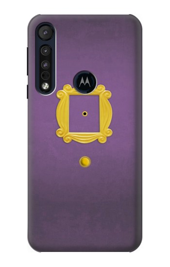 Printed Friends Purple Door Minimalist Motorola One Macro Case