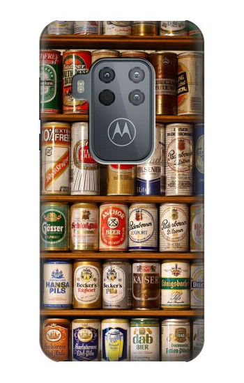 Printed Beer Cans Collection Motorola One Zoom Case