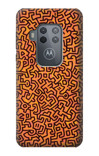 Printed Keith Haring Exposition Motorola One Zoom Case