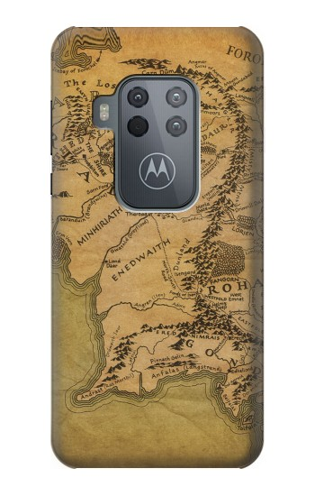 Printed The Lord Of The Rings Middle Earth Map Motorola One Zoom Case