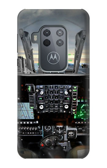 Printed Fighter Jet Aircraft Cockpit Motorola One Zoom Case