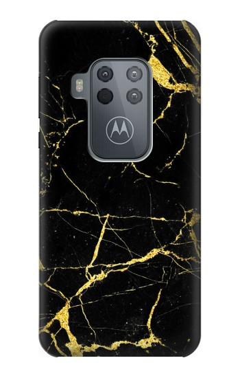 Printed Gold Marble Graphic Printed Motorola One Zoom Case