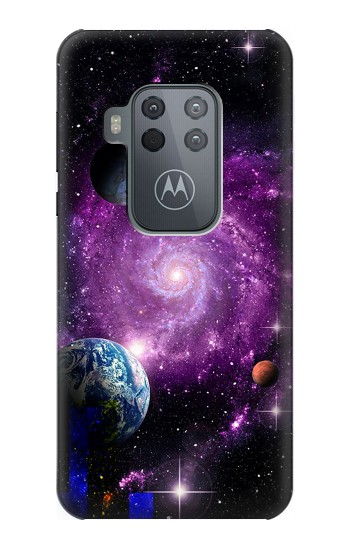 Printed Galaxy Outer Space Planet Motorola One Zoom Case