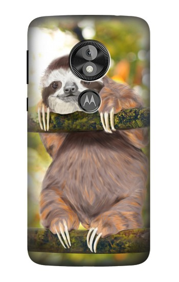 Printed Cute Baby Sloth Paint  Case