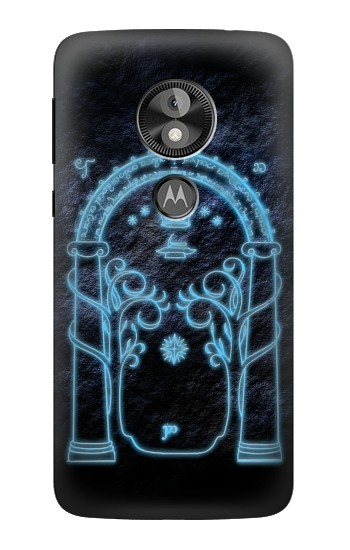 Printed Lord of The Rings Mines of Moria Gate Motorola Moto E5 Play Go Case