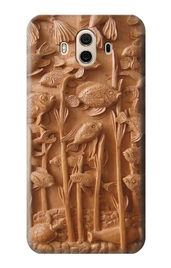 Printed Fish Wood Carving Graphic Printed Huawei Honor 5X Case