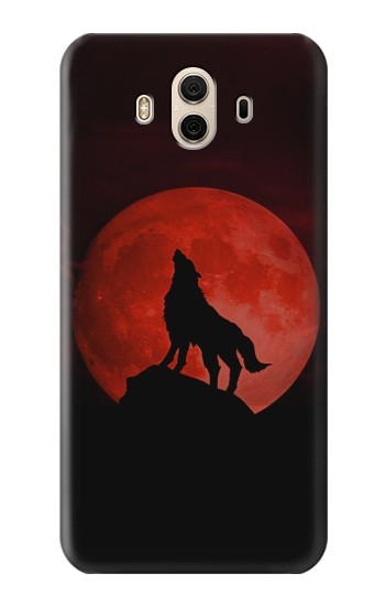 Printed Wolf Howling Red Moon Huawei Honor 5X Case