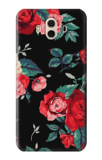 Printed Rose Floral Pattern Black Huawei Honor 5X Case