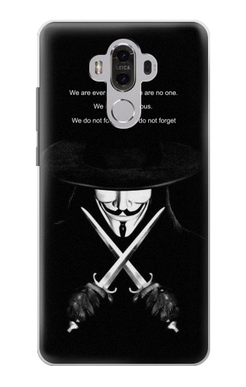 Printed V Mask Guy Fawkes Anonymous Huawei Mate 8 Case