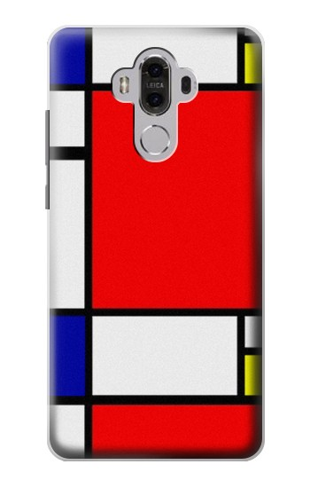 Printed Composition Red Blue Yellow Huawei Mate 8 Case