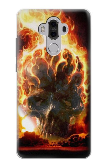 Printed Hell Fire Skull Huawei Mate 8 Case