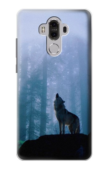 Printed Wolf Howling in Forest Huawei Mate 8 Case