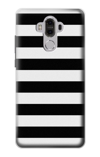 Printed Black and White Striped Huawei Mate 8 Case