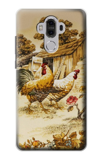 Printed French Country Chicken Huawei Mate 8 Case