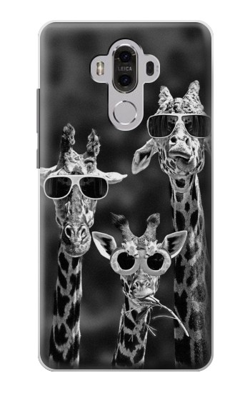 Printed Giraffes With Sunglasses Huawei Mate 8 Case