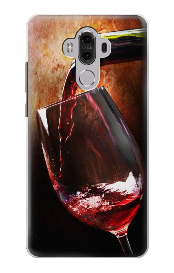 Printed Red Wine Bottle And Glass Huawei Mate 8 Case