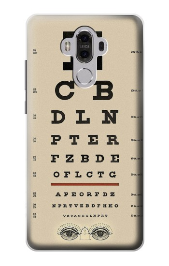 Printed Eye Exam Chart Decorative Decoupage Poster Huawei Mate 8 Case