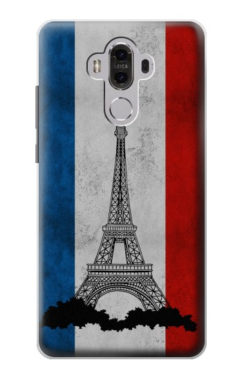 Printed Vintage France Flag Eiffel Tower Huawei Mate 8 Case