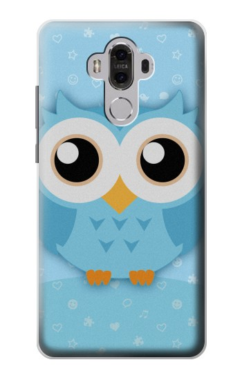 Printed Cute Blue Owl Huawei Mate 8 Case