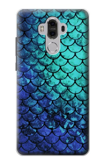 Printed Green Mermaid Fish Scale Huawei Mate 8 Case