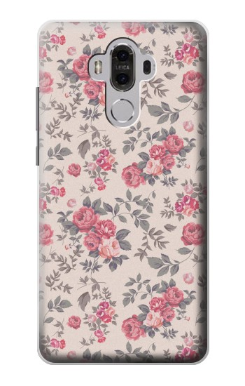 Printed Vintage Rose Pattern Huawei Mate 8 Case