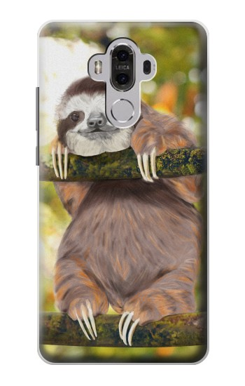Printed Cute Baby Sloth Paint Huawei Mate 8 Case