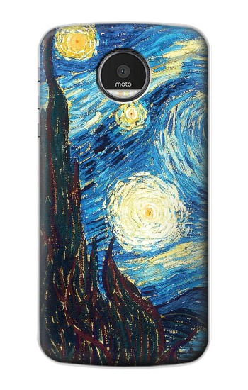 Printed Van Gogh Starry Nights Motorola Moto Z Case