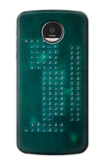 Printed Chemistry Periodic Table Motorola Moto Z Case