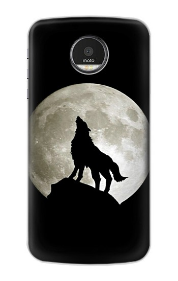 Printed Wolf Howling at The Moon Motorola Moto Z Case
