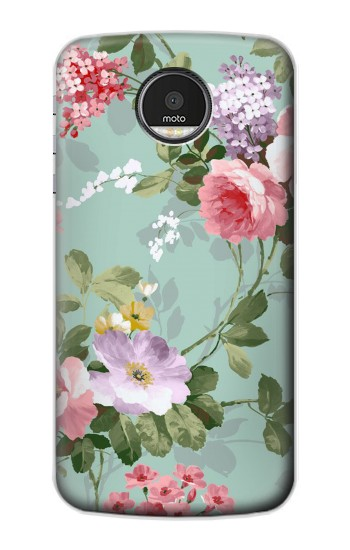 Printed Flower Floral Art Painting Motorola Moto Z Case