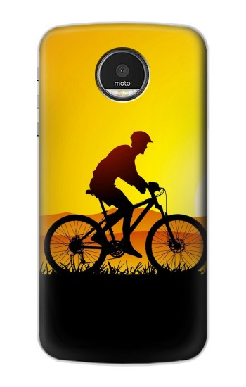 Printed Bicycle Bike Sunset Motorola Moto Z Case